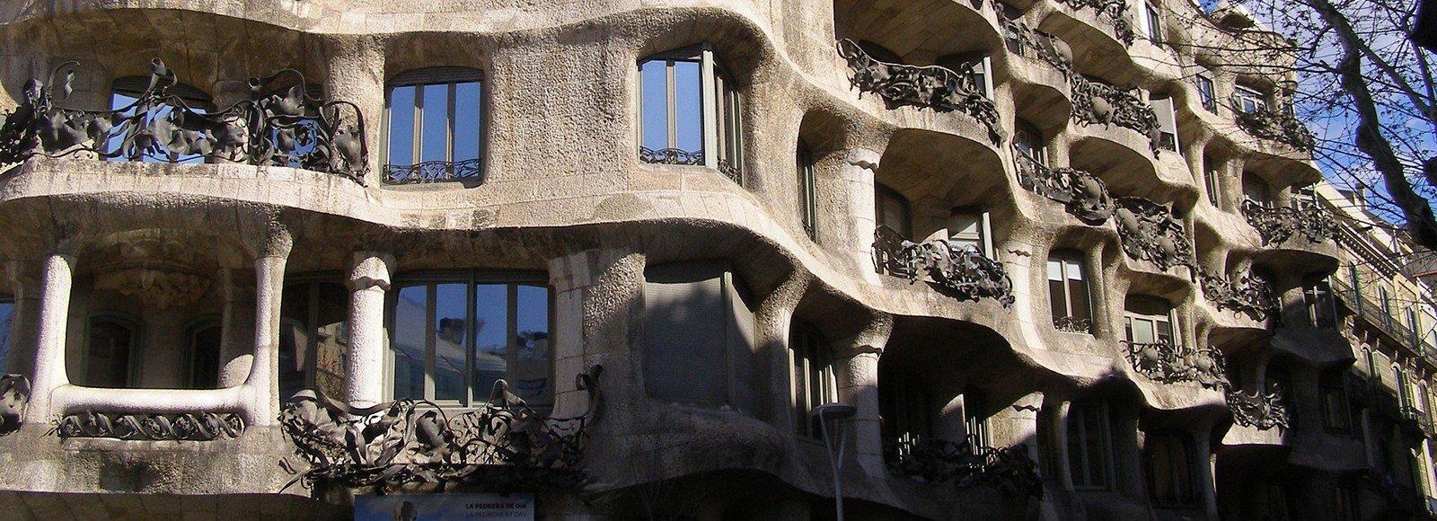gaudi building barcelona spain