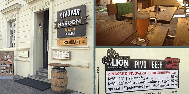 best bars in prague pivovar národni prague