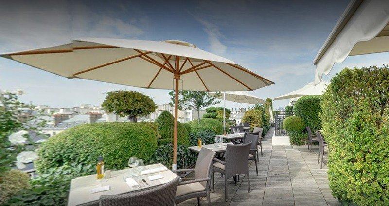 best rooftop bars in paris the raphael terrace bar paris