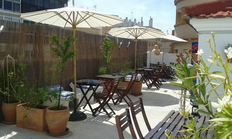 best hostels in malaga casa al sur terraza malaga