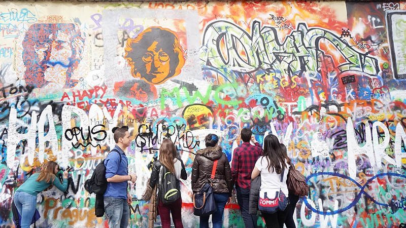 best things to do in prague Lennon Wall