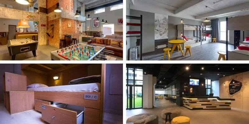 Best Hostels in Brussels Collage