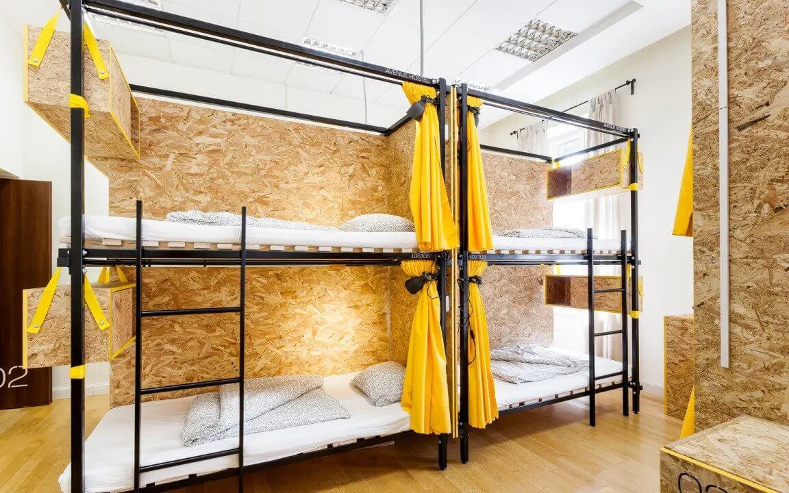 Avenue Hostel Budapest Dorm Room